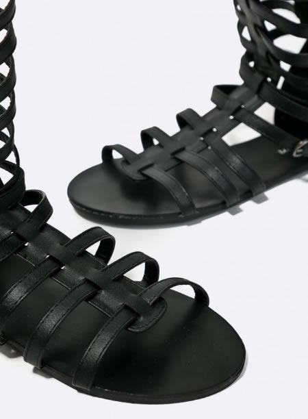 Sandale Dama Negre Gladiator Scurte