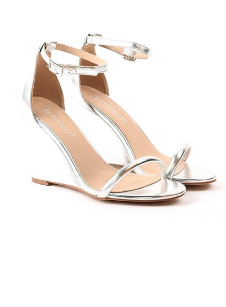 Sandale Elegante Cu Platforma Aurii