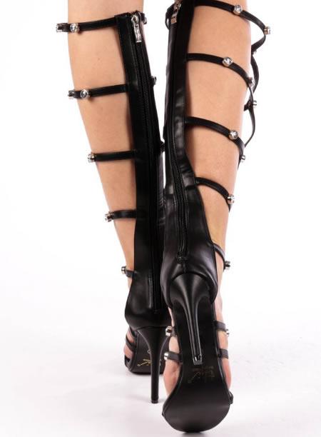 Sandale Elegante Inalte Cu Toc Cui