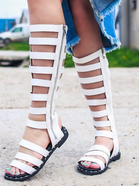 Sandale Gladiator Albe Lungi