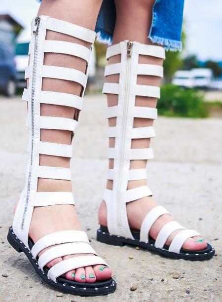 Sandale Gladiator Albe