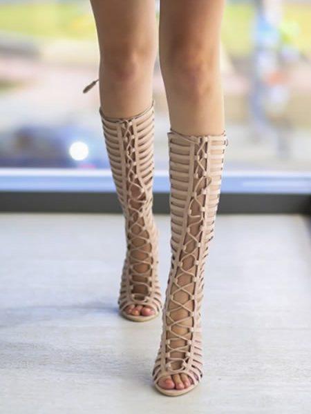 Sandale Gladiator Cu Toc Cui Inalt
