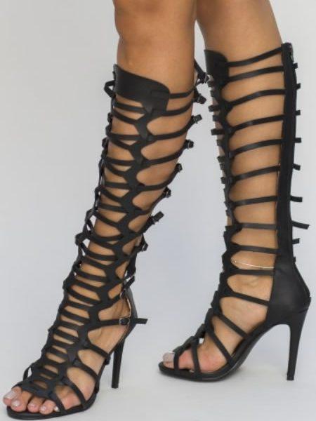 Sandale Gladiator Ieftine Cu Toc Cui