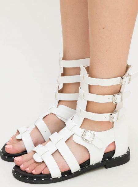 Sandale Gladiator Joase Albe