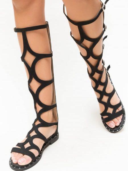 Sandale Gladiator Lungi Cu Talpa Joasa Ieftine