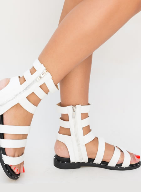 Sandale Gladiator Scurte Fara Toc
