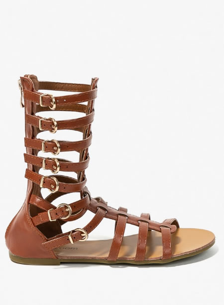 Sandale Gladiator Scurte Maro