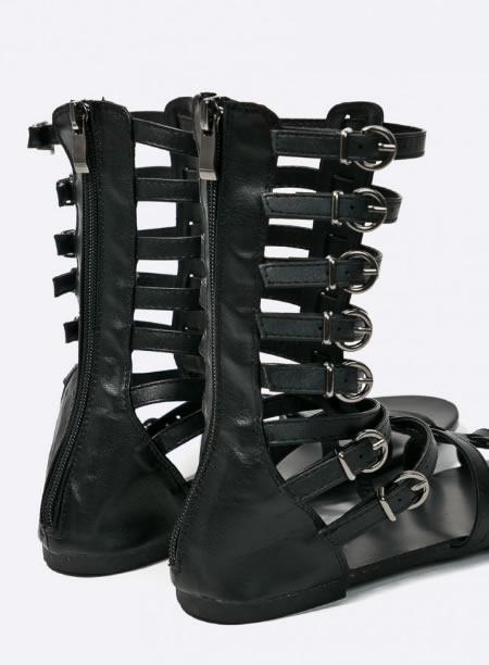 Sandale Gladiator Scurte Negre