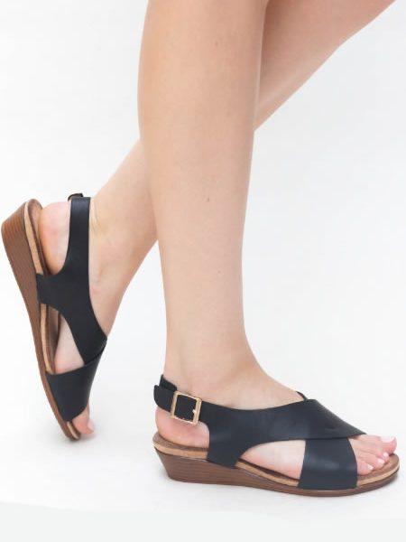 Sandale Joase Cu Platforma Negre