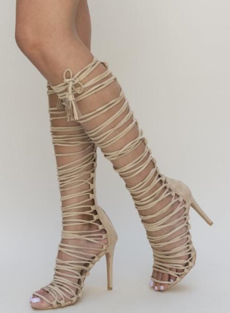 Sandale Lungi Cu Toc Cui Romane
