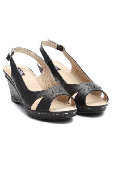 Sandale Negre Cu Talpa Ortopedica Dama