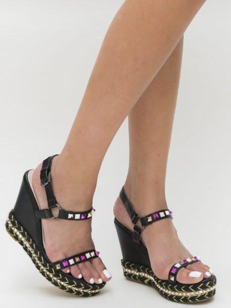 Sandale Negre Platforma