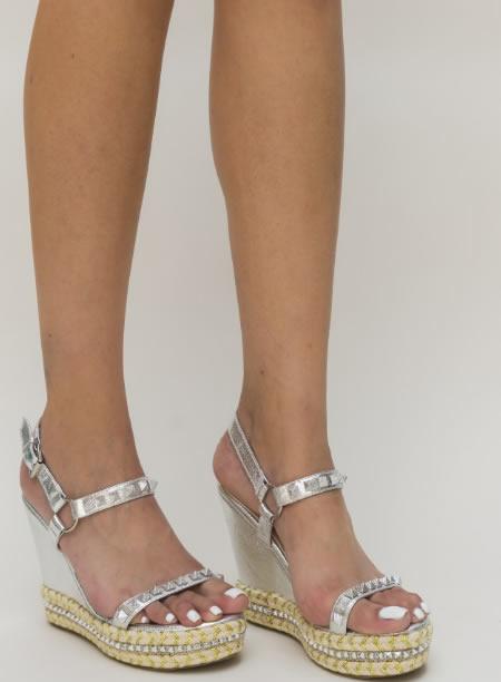 Sandale Platforma Argintii