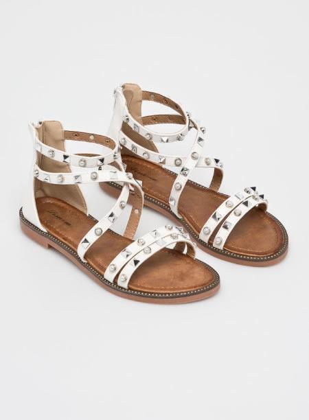 Sandale Romane Albe