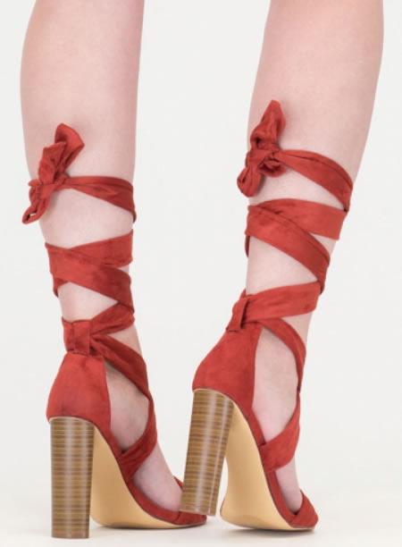 Sandale Romane Cu Toc Gros