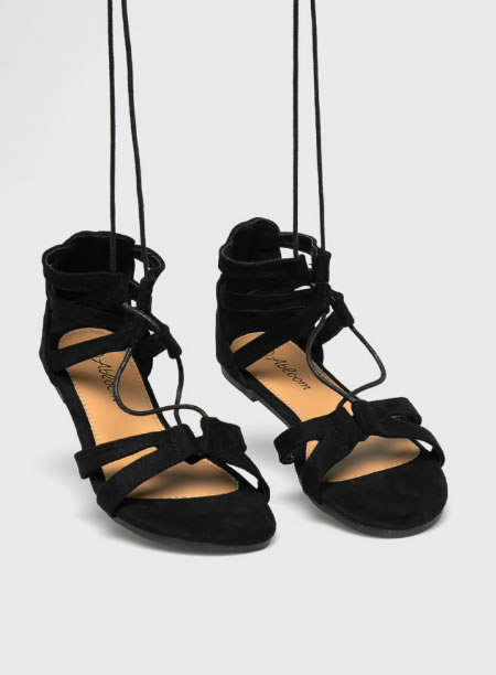 Sandale Romane Joase Negre