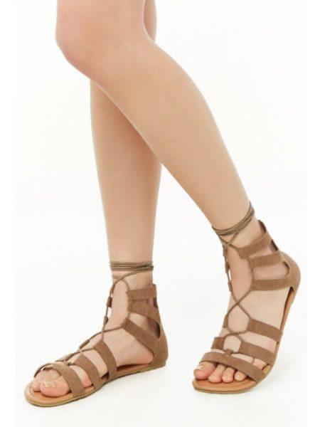 Sandale Romane Maro Cu Siret