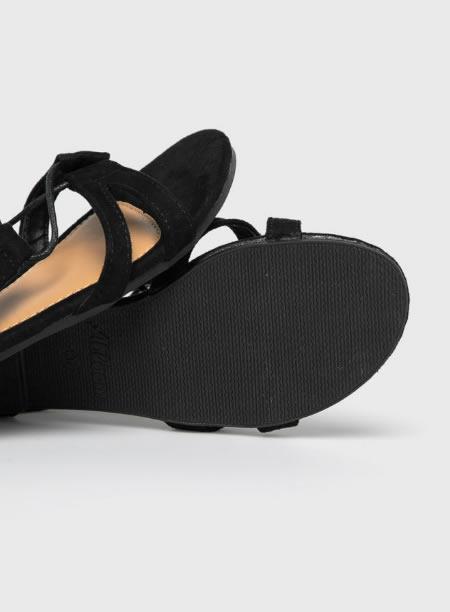 Sandale Romane Negre Cu Talpa Joasa