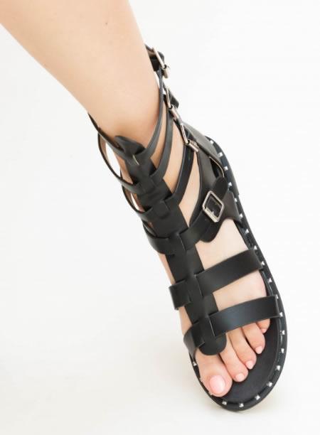 Sandale Romane Negre Scurte