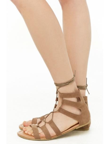 Sandale Romane Scurte Maro