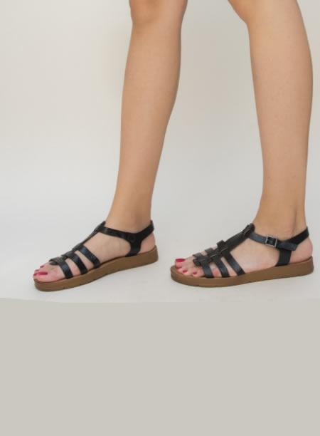 Sandale Scurte Negre Ieftine