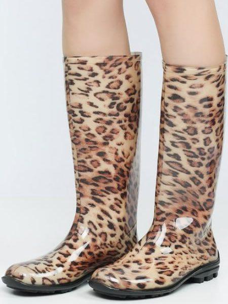 Cizme Cauciuc Animal Print Leopard