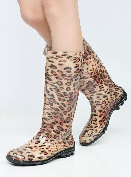 Cizme De Cauciuc Animal Print Leopard