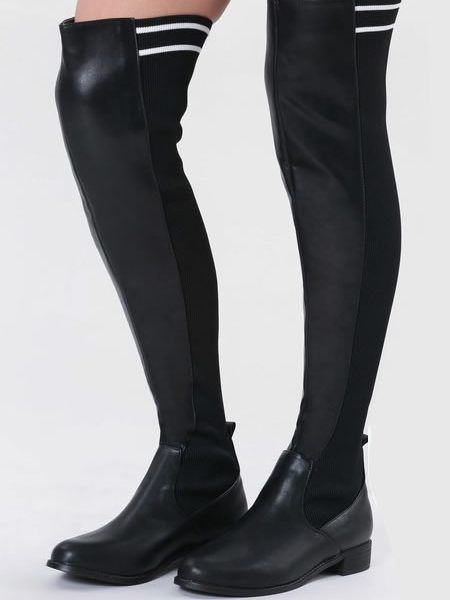 Cizme Lungi Peste Genunchi Tip Sock Boots