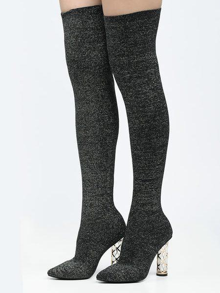 Cizme Lungi Sock Boots