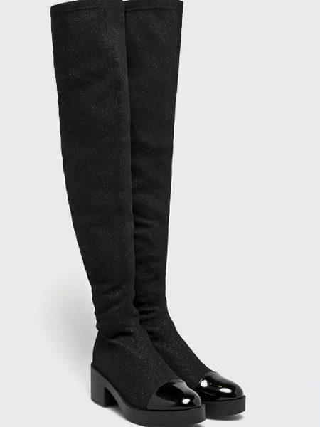 Cizme Tip Sock Boots Peste Genunchi