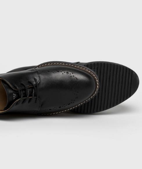 Pantofi Oxford Negri Cu Platforma