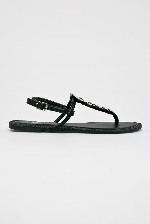 Sandale Negre Cu Talpa Joasa 2019