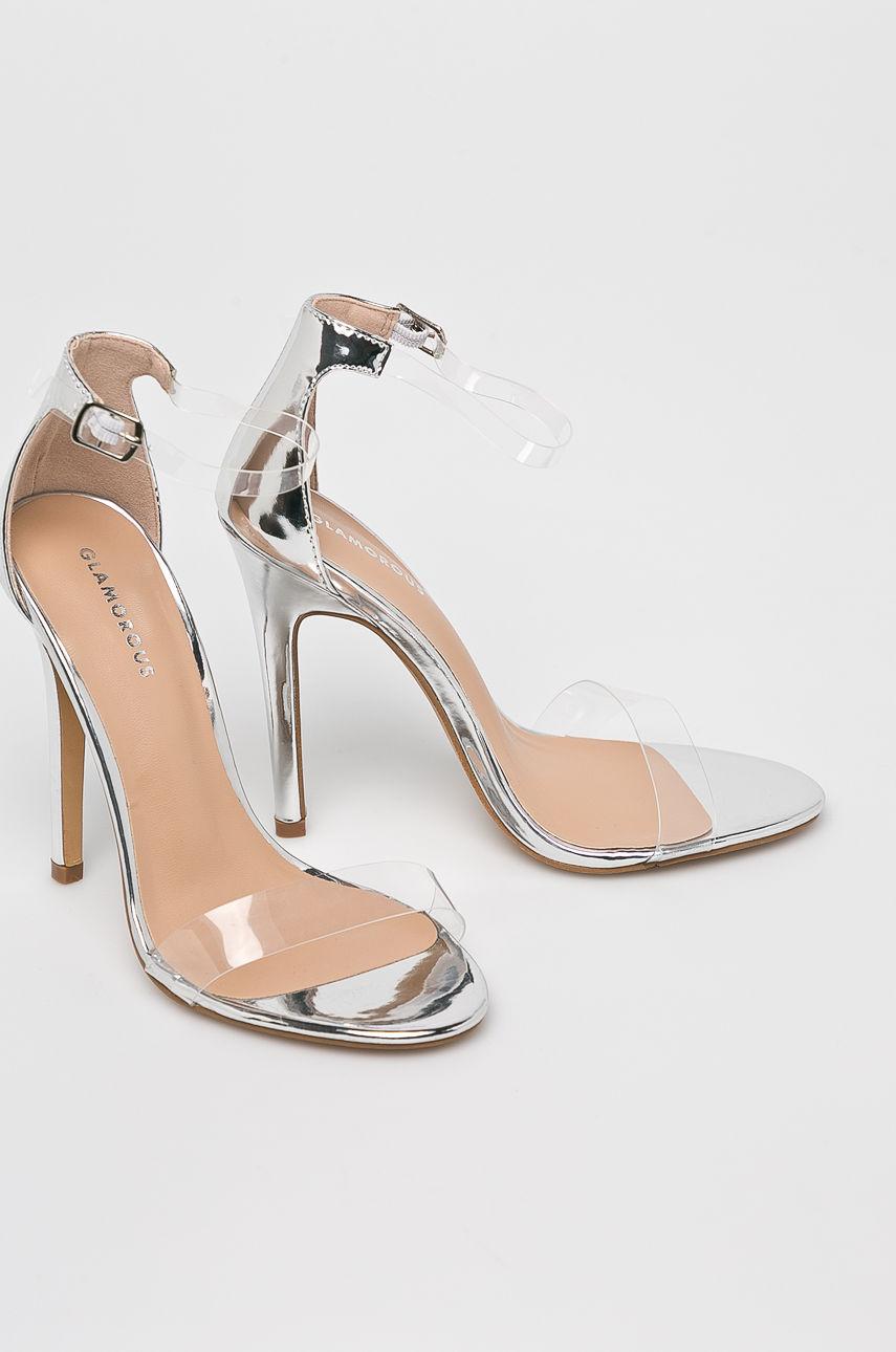 Sandale Transparente Argintii 2019