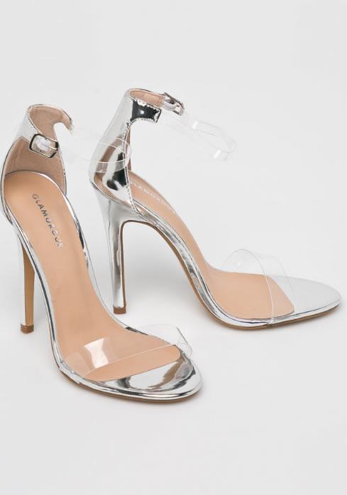 Sandale Transparente Argintii