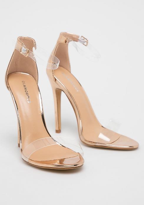 Sandale Transparente Aurii