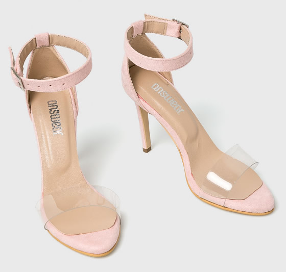 Sandale Transparente Roz