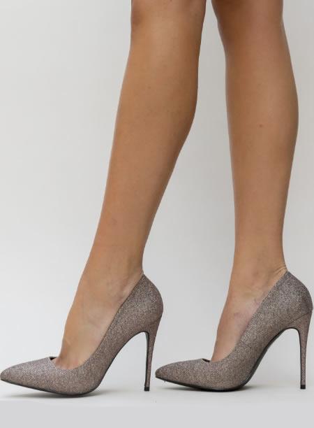 Pantofi Stiletto Cu Glitter