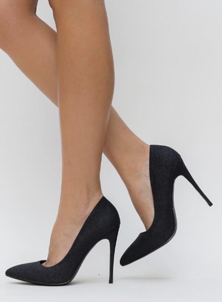 Pantofi Stiletto Eleganti Cu Sclipici