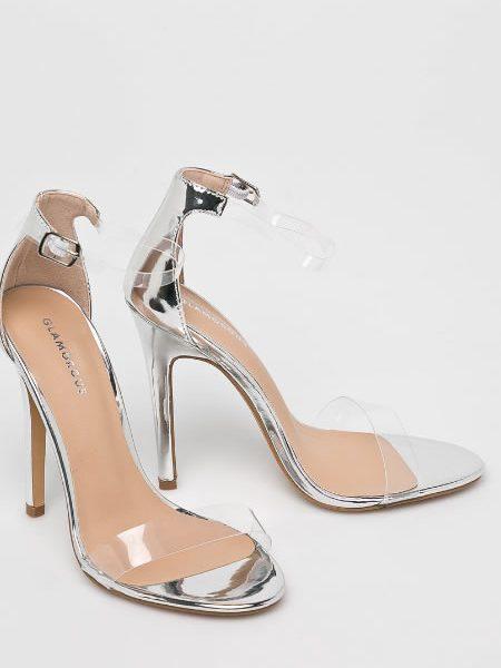 Sandale Cu Bareta Transparenta Argintii
