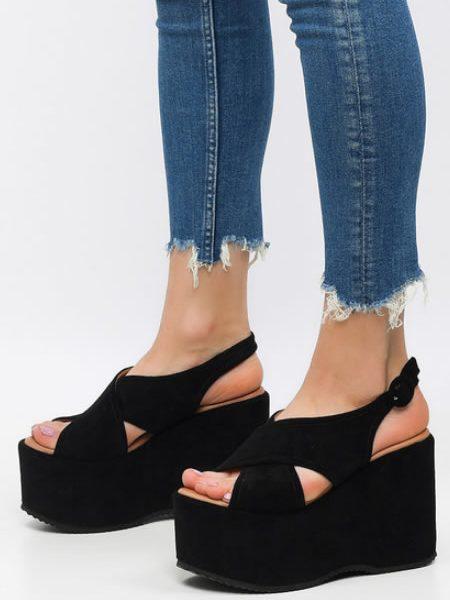 Sandale Cu Platforma Foarte Inalta
