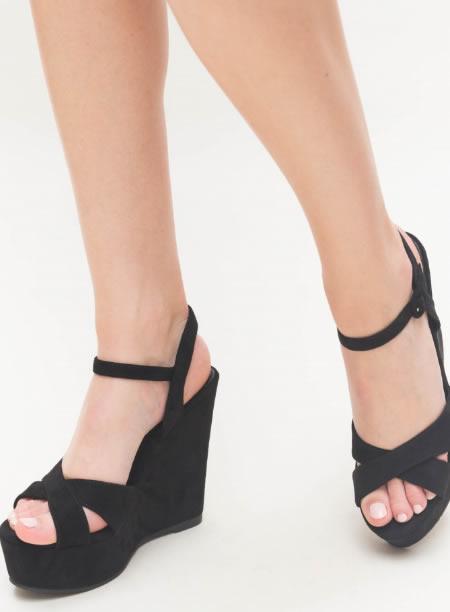 Sandale Cu Platforma Negre