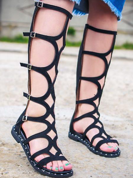 Sandale Cu Talpa Joasa Gladiator