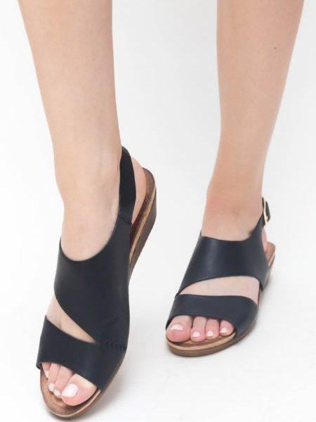 Sandale Cu Talpa Ortopedica Neagra