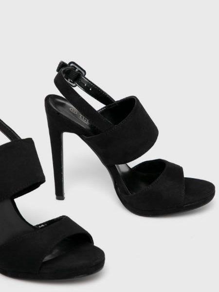 Sandale Dama Ieftine Cu Toc Cui Negre