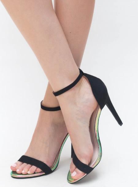 Sandale Dama Negre Cu Toc Cui