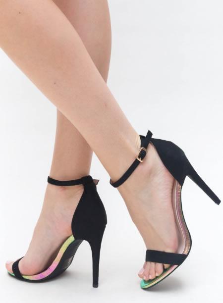 Sandale De Vara Negre Cu Toc Cui