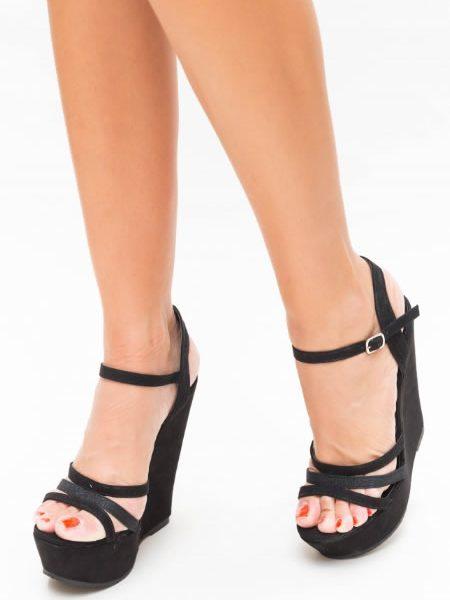Sandale Elegante Cu Platforma Ortopedica Inalta
