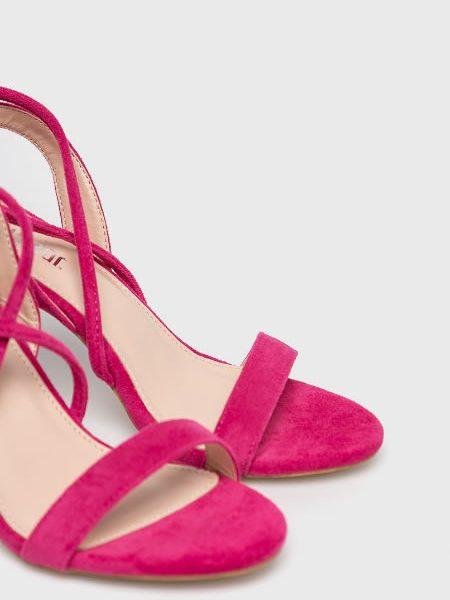Sandale Elegante Roz Cu Siret