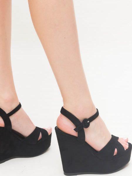 Sandale Negre Cu Platforma Negre