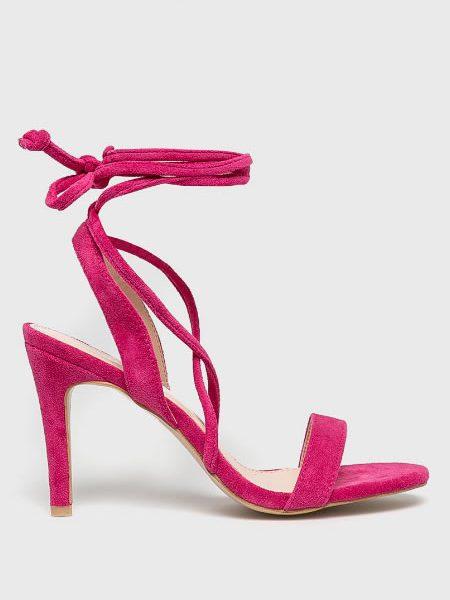 Sandale Roz Cu Siret